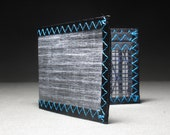 Carbon Fiber RFID Wallet - Rugged Mens Wallet - Matte Gray and Teal - Bifold ID