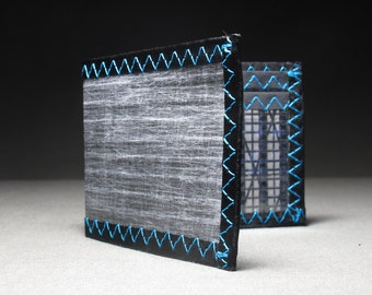 Craft Gear Carbon Fiber RFID Wallet - RAD & Rugged Mens Wallet - Matte Gray and Teal - Bifold ID