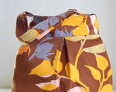 Branching Out Fabric Pleated Hobo Handbag / Purse - READY TO SHIP