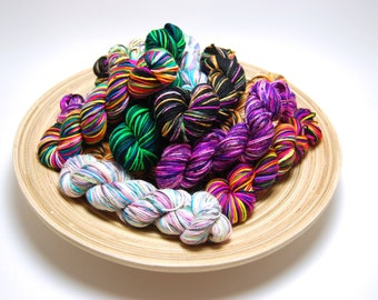 Hardcore Sock Yarn Mini Skein Yarn Kit - 460 Yards - Superwash Merino Nylon