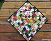 Floral Quilted Table Topper, Patchwork Table Runner, Catalina Quilted Runner