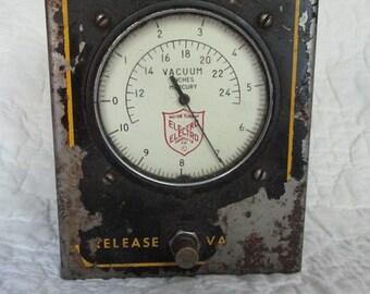Antique Manometer Vacuum Measuring Tool by Electro SALE