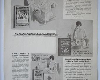 Colgate and Borax 1923 Vintage Advertisement Print