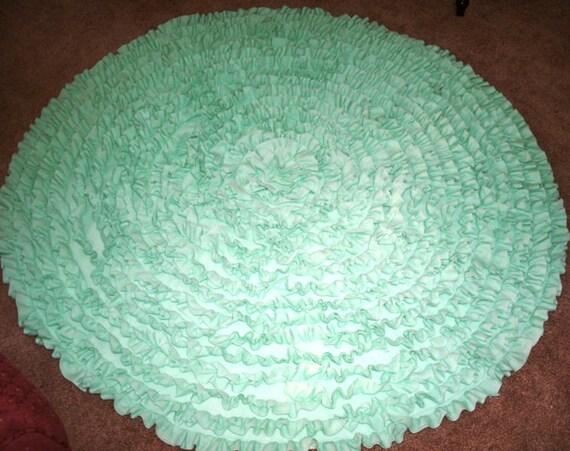 Nursery Rug Mint Green Rnd 4 39 Rug Kids Rug By RuffledRugsandMore
