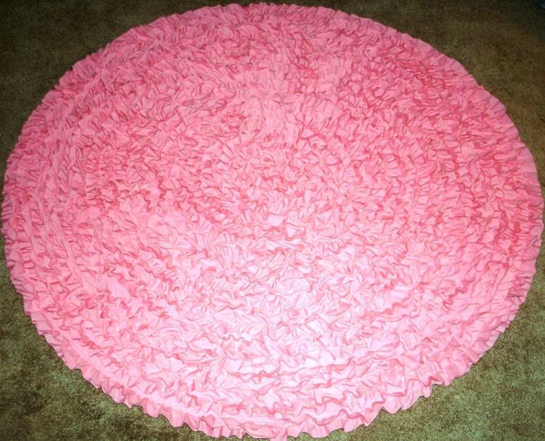 Pink Round Rug 5 39 Shag Rag Rug Pink Shag Rug Kids Rug