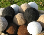 Alpaca Dryer Balls set of 4, Natural,Handmade,Eco-Friendly,Saves you money, Made in USA, Hypoallergenic, Unscented,