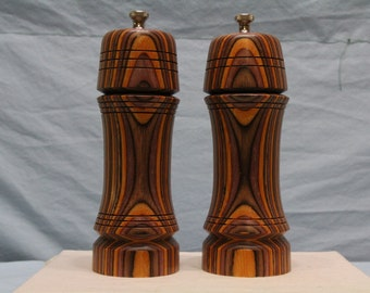 7 Inch COLORWOOD SALT and PEPPERMILL Set Numbers 1252 & 1253