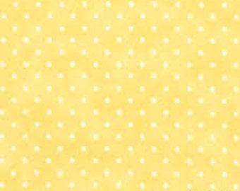 Fabric - Moda Essential Yellow Dot Print - Yardage - 8654 20