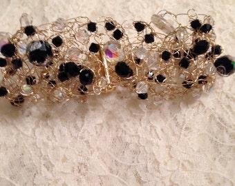 Classic & Dainty Wire Crochet Bracelet