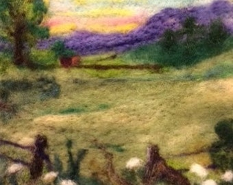 Back Pasture Thyme Tile Needle Felting Kit