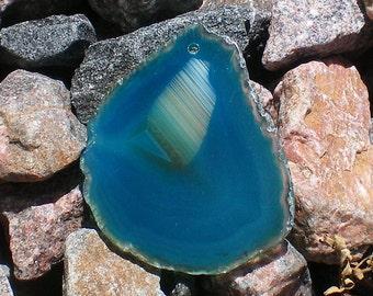Agate Unique Deep Turquoise