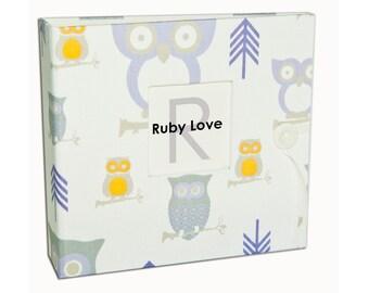BABY BOOK | Lavender Owls Album - Ruby Love Modern Baby Memory Book
