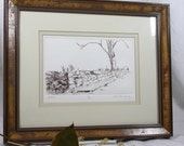 Redbud limited edition hand pulled etching