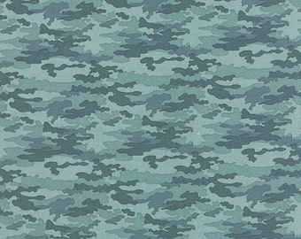 SALE Nomad by Urban Chicks for Moda Camo in Sky 1 yard
