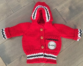 Portland Trail Blazers Baby Sweater Made to Order