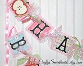 Apple Birthday Banner Party Decoration