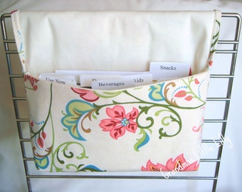 Coupon Organizer / Budget Organizer Holder - Attaches To Your Shopping Cart - Coral Beach Floral