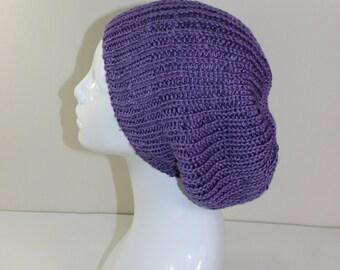 Madmonkeyknits Unisex Fishermans Rib Slouch Hat CIRCULAR knitting pattern - Instant Digital File pdf download knitting pattern