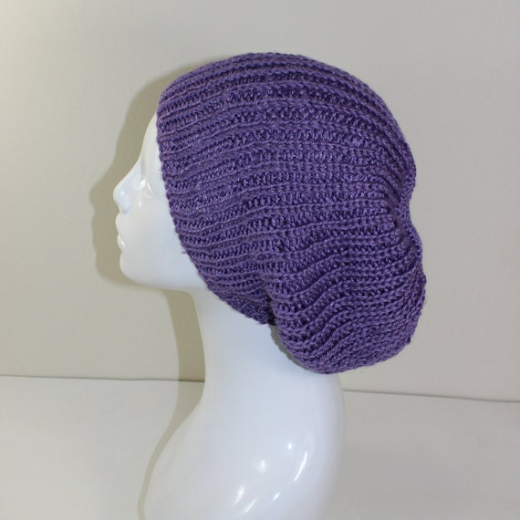Ribbed Knit Hat Pattern On Circular Needles : Madmonkeyknits Unisex Fishermans Rib Slouch Hat by ...
