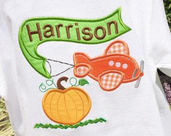 Boys  Airplane with Pumpkin