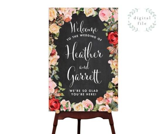 Large chalkboard wedding