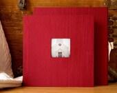 10x10 inch Custom Fabric Flush Mounted Library Style Bound Photo Wedding Album