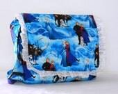 Children's School Messenger Bag made with Frozen Elsa and Anna fabric