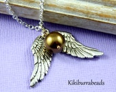 Harry Potter Golden Snitch Silver Necklace