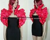Harley Quinn Red Dramatic Cosplay Bolero Shrug EMO costume RINGMASTER  Circus Showgirl Vegas