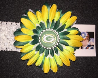 GREEN BAY FOOTBALL Flower Headband ... All other teams available