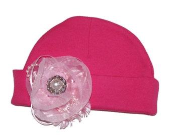 Pink Baby Beanie Hat