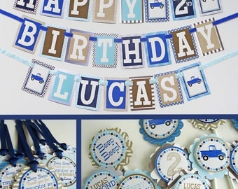 Blue Truck Birthday Party Decorations Fully Assembled
