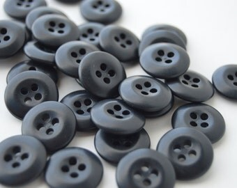 Black Colored Buttons - 11/16 inch - 35