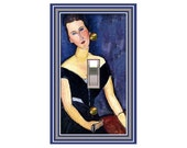 Modigliani Woman in Blue Room Design Switchplate 0337x mrs butler  (Choose size/price from dropdown)