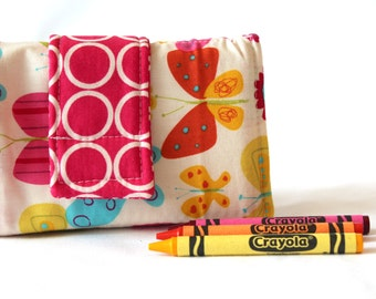 Crayon Wallet - Butterfly - A Montessori and Waldorf Inspired Travel Toy for Self Guided Art