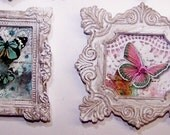 Miniature Artwork, Paintings, Butterflies, Wings, Flight, Dollhouse, Home Decor, Colorful, Miniature Art, Wall Decor, Dollhouse Decor,