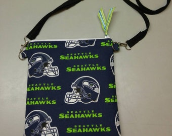 Seattle Seahawks purse messenger bag handmade
