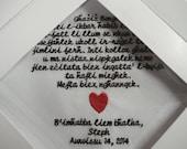 Custom wedding  your saying handkerchief with with gift box