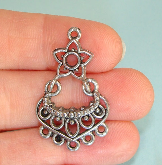 4 Chandelier Earring Parts STAR Findings Jointed Components 2 PAIR ...