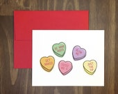 naughty valentines day card / get naked, be mine, blow me / dirty conversation hearts / inappropriate persuasive candy / silly / blank