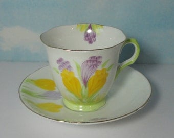 Tulip Flower Melba  Bone China Cup and Saucer. Made in England