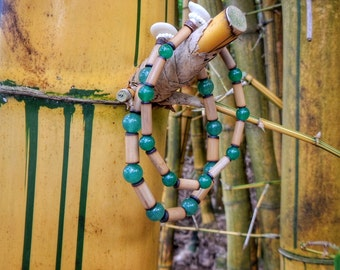Kauai Bamboo Jewelry - Hawaiian Bamboo and Aventurine Bracelet