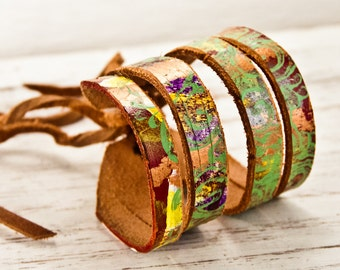 Leather Cuffs, Leather Bracelets, Women's Bracelets Cuffs, Leather Jewelry, Leather Wristbands Cuffs, Valentine's Day Gifts
