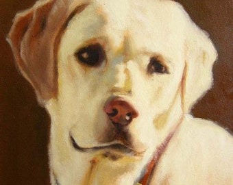 """FREE SHIPPING! Custom Pet Portrait in Oil on 8x10"""" Canvas, Dog Painting, Cat Picture from your photo"""