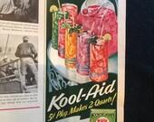 1953 Kool-Aid Ad - half page magazine ad