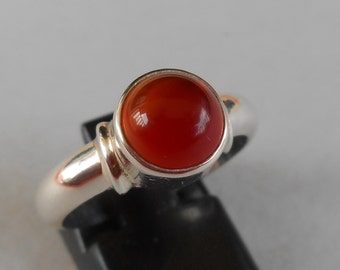 Awesome Bali Silver 925 Carnelian ring / sterling silver / Balinese handmade jewelry / size 8 ready to ship / (#213K)