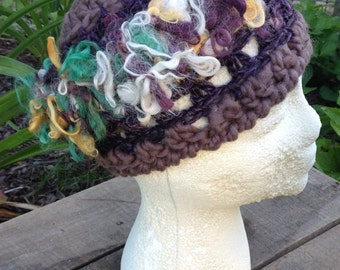 Art Yarn Hat, Ready to Ship