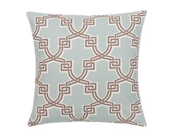 BLUE Pillow Cover.Decorator Pillow Cover.Home Decor.Large Print. HIRO SNOWY.Cushions. Cushion.Pillow. Premier Prints