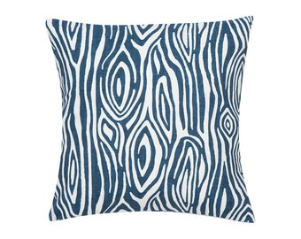 BLUE Pillow Cover.Decorator Pillow Cover.Home Decor.Large Print.WILLOW TREE.Cushions. Cushion.Pillow. Premier Prints