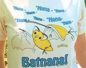FruitBats Batnana t-shirt Magpie's Masquerie original art